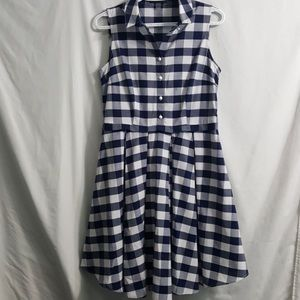 Gingham buffalo print fit & flare by Nine West 8